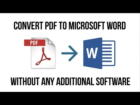 Convert a PDF to Microsoft word with this 2 minute hack