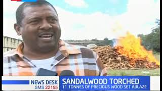 Sandalwood Torched: Consignment burnt at Maralal Police Station