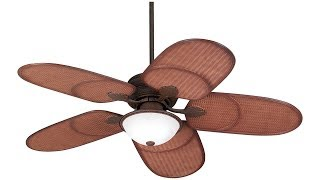 "52"" Casa Vieja®Rattan Outdoor Tropical Ceiling Fan"