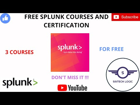 SPLUNK FREE COURSES AND CERTIFICATION | SPLUNK ...