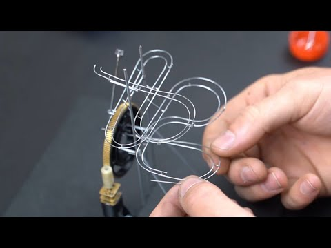 making a (tiny) MARBLE MACHINE with magnetic lift!