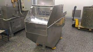 видео товара Установка гильотинной резки мясных блоков (производство)