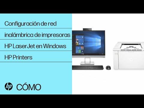 Configuración de red inalámbrica de impresoras HP LaserJet en Windows | HP Printers | HP