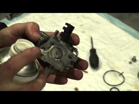 Разборка, чистка и регулировка карбюратора двигателя Honda GX