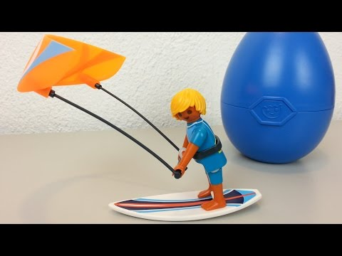 Playmobil Osterei Kitesurfer 6838 seratus1 unboxing Neuheit 2016