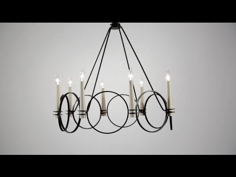 Video for Juliette Country Iron Six-Light Chandelier