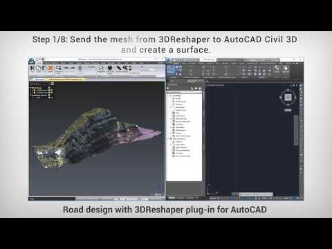 Road design with 3DReshaper plug-in for AutoCAD