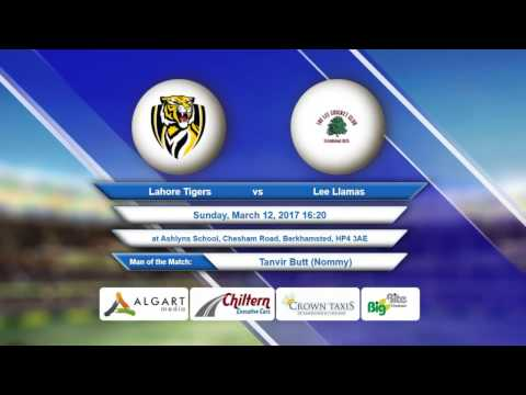 Video Lahore Tigers VS Lee Llamas - 12-Mar-2017
