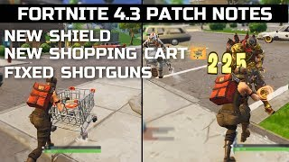 Fortnite NEW Shopping Cart Gameplay! Fixed Shotguns? New Mushroom Consumables And MORE!