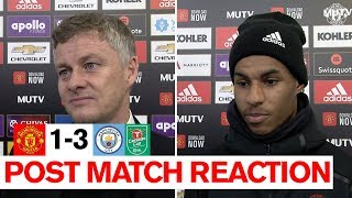 Ole Gunnar Solskjaer & Marcus Rashford | Post Match Reaction | Manchester United 1-3 Manchester City
