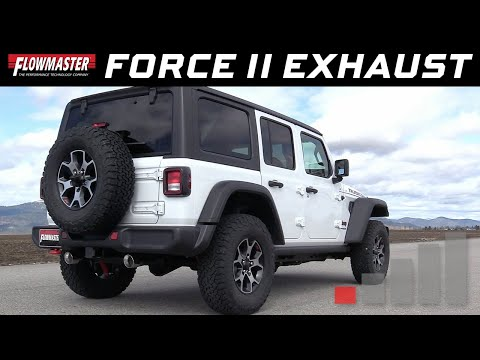 2018-20 Jeep Wrangler JL 2.0L, 3.6L - Force II Axle-back Exhaust Systems 817804, 817841