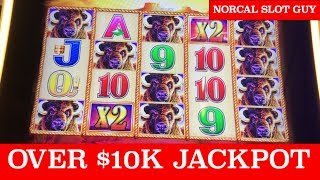 $10,000+ 💰 HAND PAY JACKPOT | BUFFALO GOLD MASSIVE WIN @ Graton Casino | NorCal Slot Guy