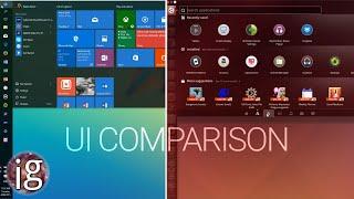Windows 10 vs Linux | UI Comparison