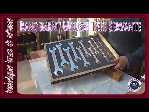 fabrication d'un rangement d'outils en mousse type servante DIY