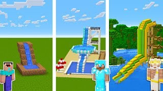 Minecraft WATER PARK CHALLENGE 💦 / Noob vs Pro vs God in Minecraft