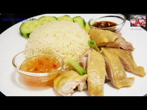 CƠM GÀ HẢI NAM – Cách luộc Gà Da giòn, pha Nước Chấm và nấu Cơm Gà Instant Pot by Vanh Khuyen