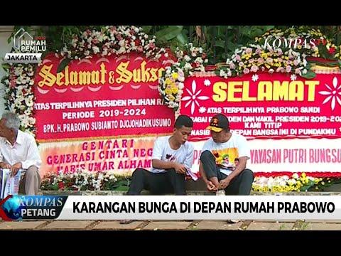 Rumah Prabowo Dibanjiri Karangan Bunga