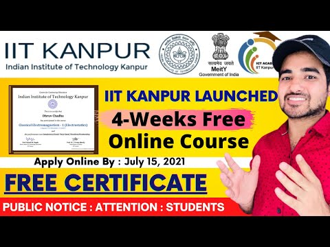 IIT Kanpur Free Courses With Free Certificate | IIT Certified Free ...