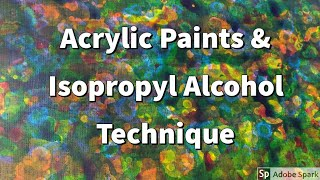Acrylic Paints And Isopropyl Alcohol Techniques | Rubbing Alcohol | Backgrounds|