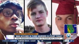 Suspect charged in 3 deaths to appear in court Wednesday
