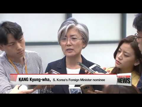 South Korea's foreign minister nominee agrees on need for humanitarian aid to North Korea