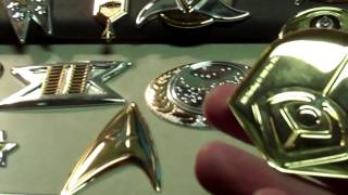 StarTrek 925 Badge Set  Leave Them In The Case The Silver Weight Is Qik Tip