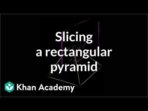 Slicing a rectangular pyramid (video) Khan Academy