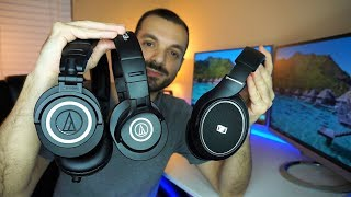 Audio Technica ATH-M50x vs M40x vs Sennheiser HD 558 - Best Of The Best!