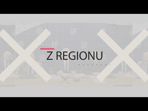 """Plansza z napisem """"Z Regionu"""""""