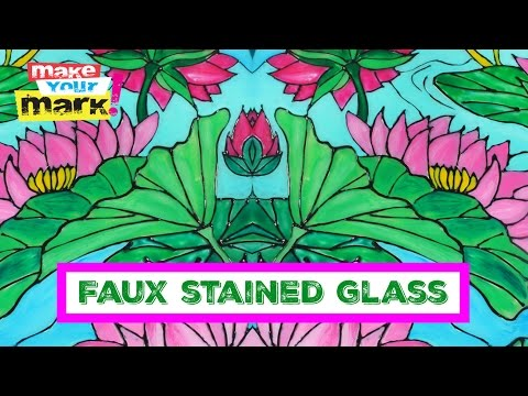 Unicorn SPiT: FAUX Stained Glass with ColorIt and UNICORN SPiT
