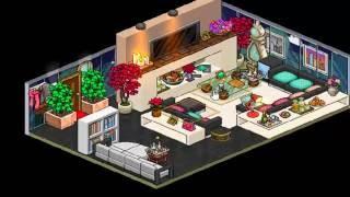 Como fazer parte externa da casa moderna no habbo 123vid for Casa moderna habbo