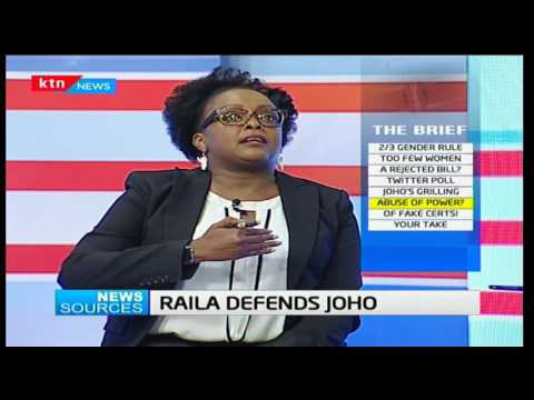 News Sources: - Raila defends Joho - 29/3/2017 [Part Two]