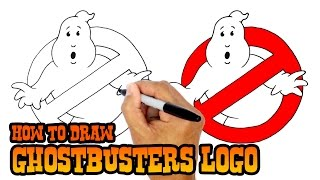 How to Draw No Ghosts Logo   Ghostbusters