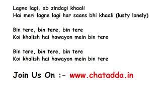 BIN TERE Full Song Lyrics Movie – I Hate Luv Storys | Shafqat