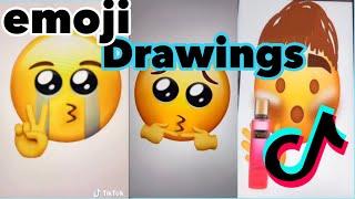 Tiktok Emoji Drawings Compilation ❤️❤️😁