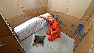 Box Fort PRISON! 24 hours to ESCAPE!!