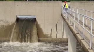 Rain overwhelmed storm sewers