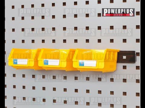 Kunststoff Lagerbox in Action von Powerplustools - Sortierkasten