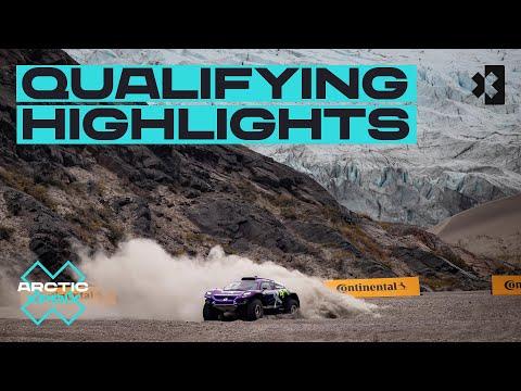 エクストリームE 2021 カンゲルルススアーク(グリーンランド)予選タイムアタックのハイライト動画