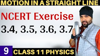 Exercise 3.4 to 3.7 Motion in a Straight Line IIT Jee Mains