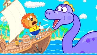 Lion Family Sea Monster Cartoon for Kids