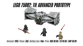 'Lego Star Wars 75082: TIE Advanced Prototype' Unboxing & Review