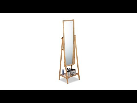 Standspiegel Bambus