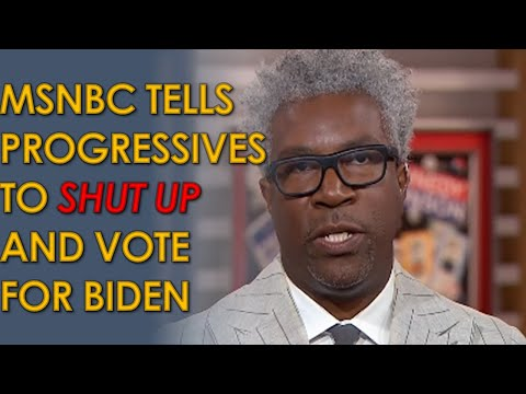 """MSNBC Guest Tells Progressives to """"Shut the Hell up"""" and Vote For Joe Biden"""