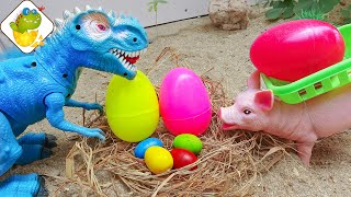 Toy dinosaur, the journey to find the eggs - M80U ToyTV