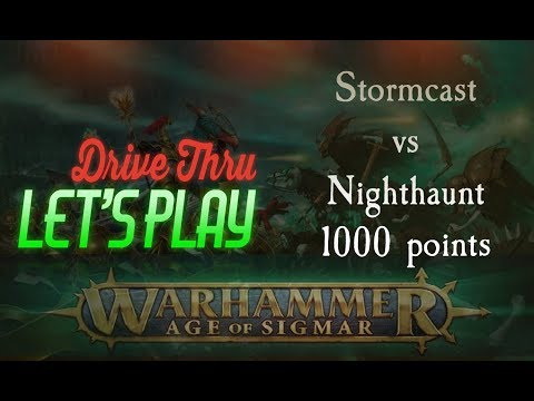 Stormcast Eternals vs Nighthaunt - Warhammer: Age of Sigmar 2nd Edition Battle Report