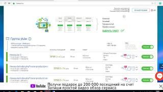 обзор LiveSurf ru , бесплатно Vip аккаунт и 200 000 посещений , продвижение сайта в поиске