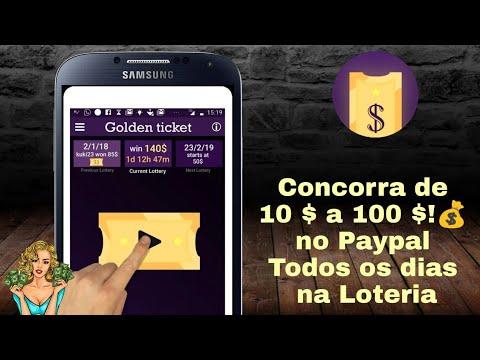 Concorra de 10 $ a 100 $ Todos os Dias no Paypal / Golden Ticket