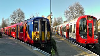 preview picture of video 'SWT + District Line Trains @ Southfields Station'