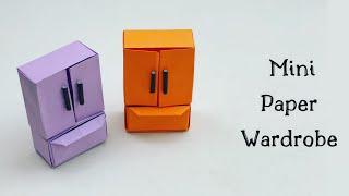 DIY MINI PAPER WARDROBE / Paper Closet L / Paper Craft / Easy Kids Craft Ideas /Paper Craft New